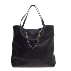 Lanvin Carry Me Tote Quilted Leather Medium