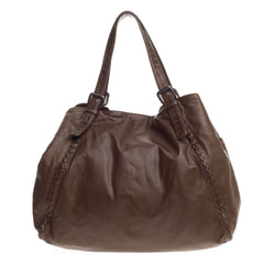 Bottega Veneta Belted Tote Leather with Karung Intrecciato Large