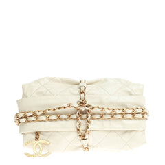 Chanel Midnight Swim Baluchon Clutch Quilted Calfskin