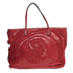 Valentino Rose Couture Tote Sequins and Leather Large