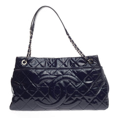 Chanel Timeless CC Soft Tote Quilted Patent Large