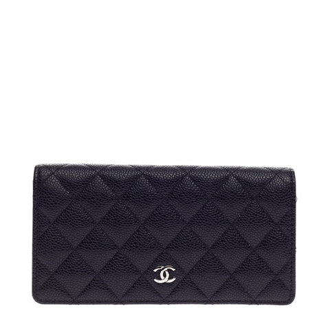 8b4af0ffcbe2 Buy Chanel L-Yen Wallet Quilted Caviar Black 972702 – Rebag