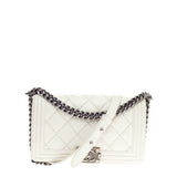 Chanel Stitch Boy Flap Quilted Calfskin Old Medium