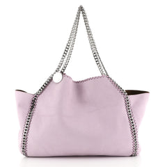 Stella McCartney Falabella Reversible Tote Shaggy Deer Small Purple 4401376