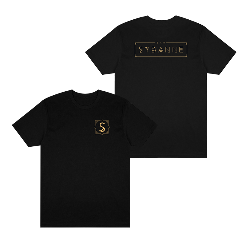 Bar Sybanne Logo Tee - Black - Shop Off Menu