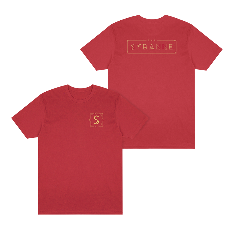 Bar Sybanne Logo Tee - Coral - Shop Off Menu