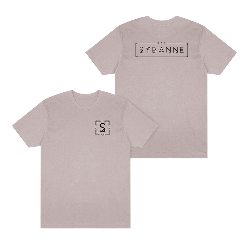 Bar Sybanne Logo Tee - Light Pink - Shop Off Menu