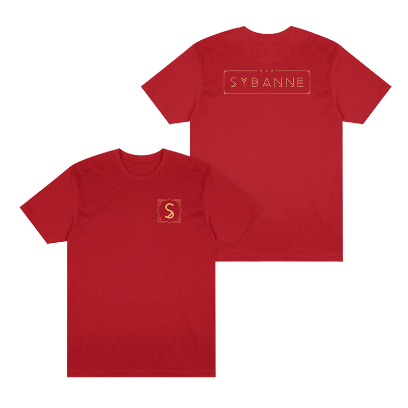 Bar Sybanne Logo Tee - Red - Shop Off Menu