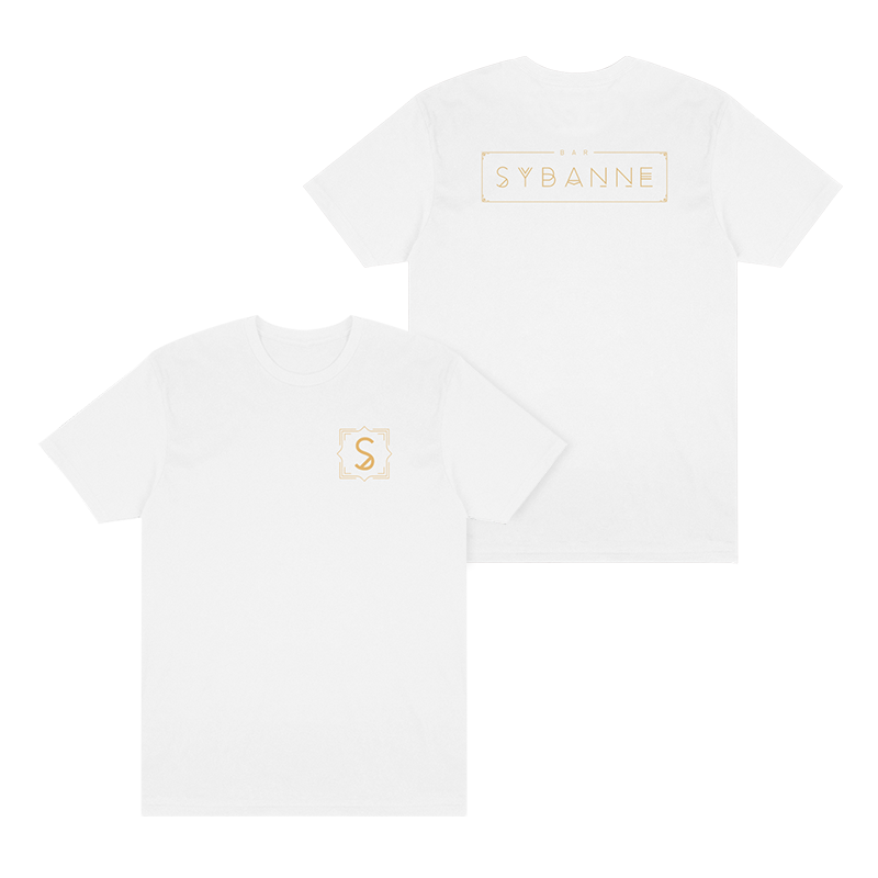 Bar Sybanne Logo Tee - White - Shop Off Menu
