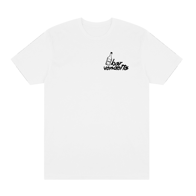 Bar Vendetta Logo Tee w/ Back Print - White - Shop Off Menu