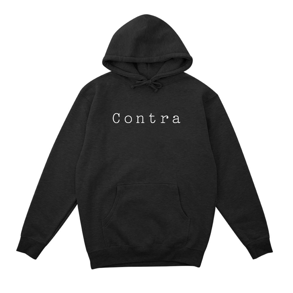 Contra Cafe Logo Hoodie - Charcoal Heather - Shop Off Menu