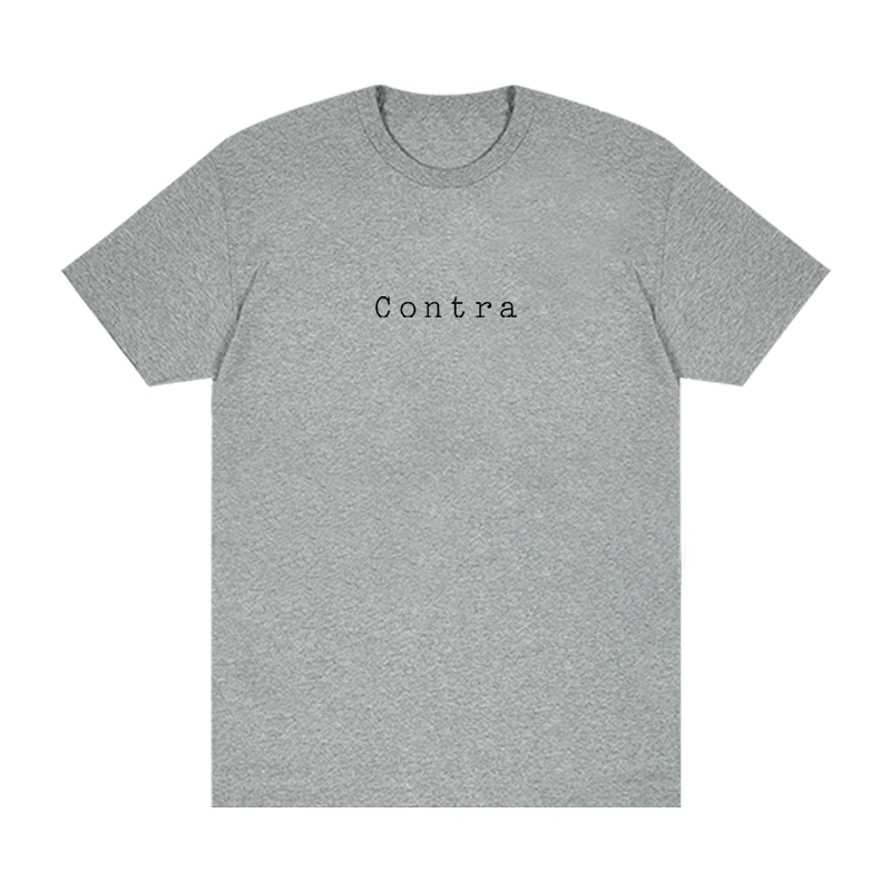Contra Cafe Logo Tee - Heather Grey - Shop Off Menu