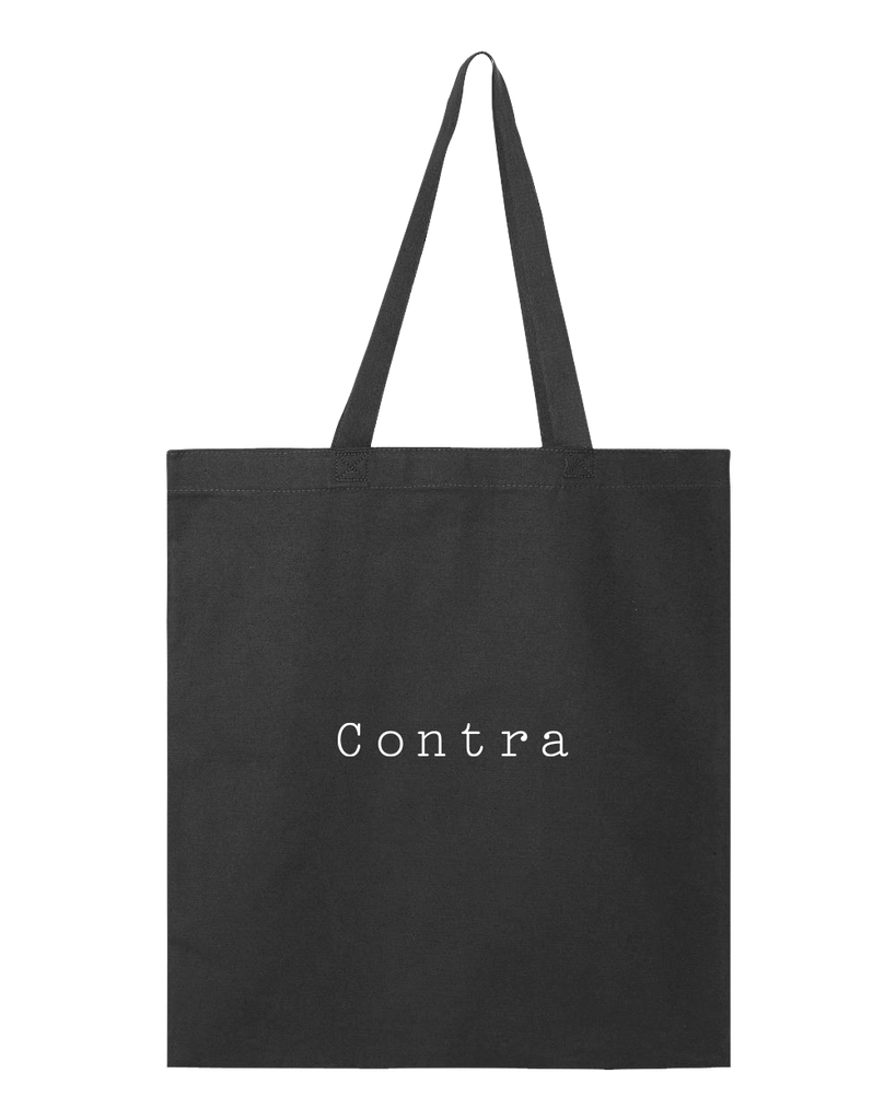 Contra Cafe Logo Tote Bag - Black - Shop Off Menu