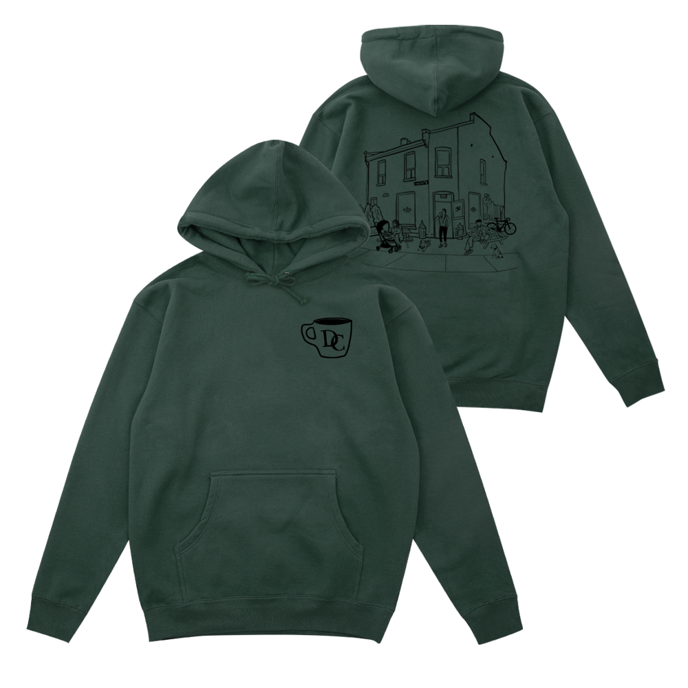 Durand Coffee Hoodie - Green - Shop Off Menu