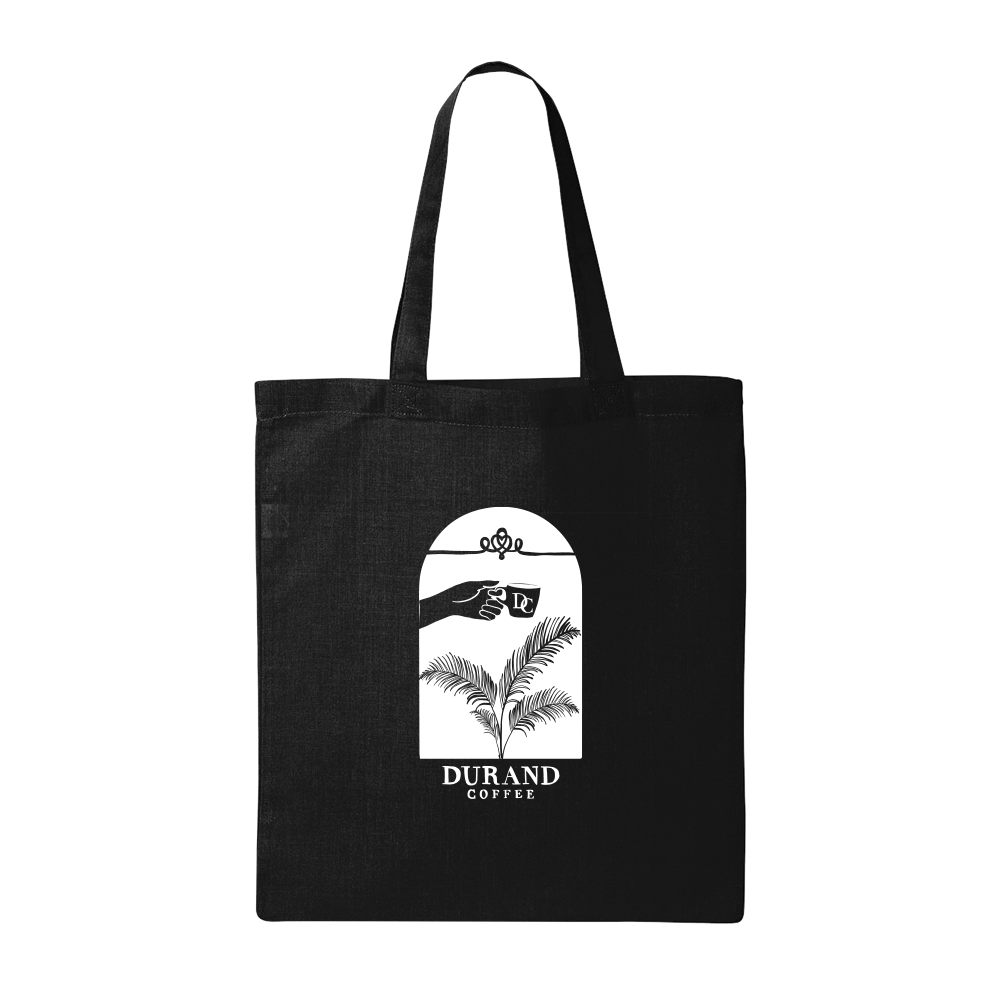 Durand Coffee Logo Tote Bag - Black - Shop Off Menu