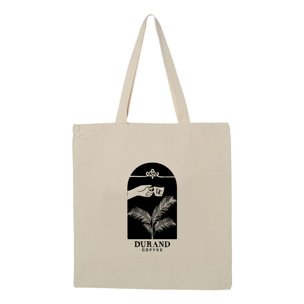 Durand Coffee Logo Tote Bag - Natural - Shop Off Menu