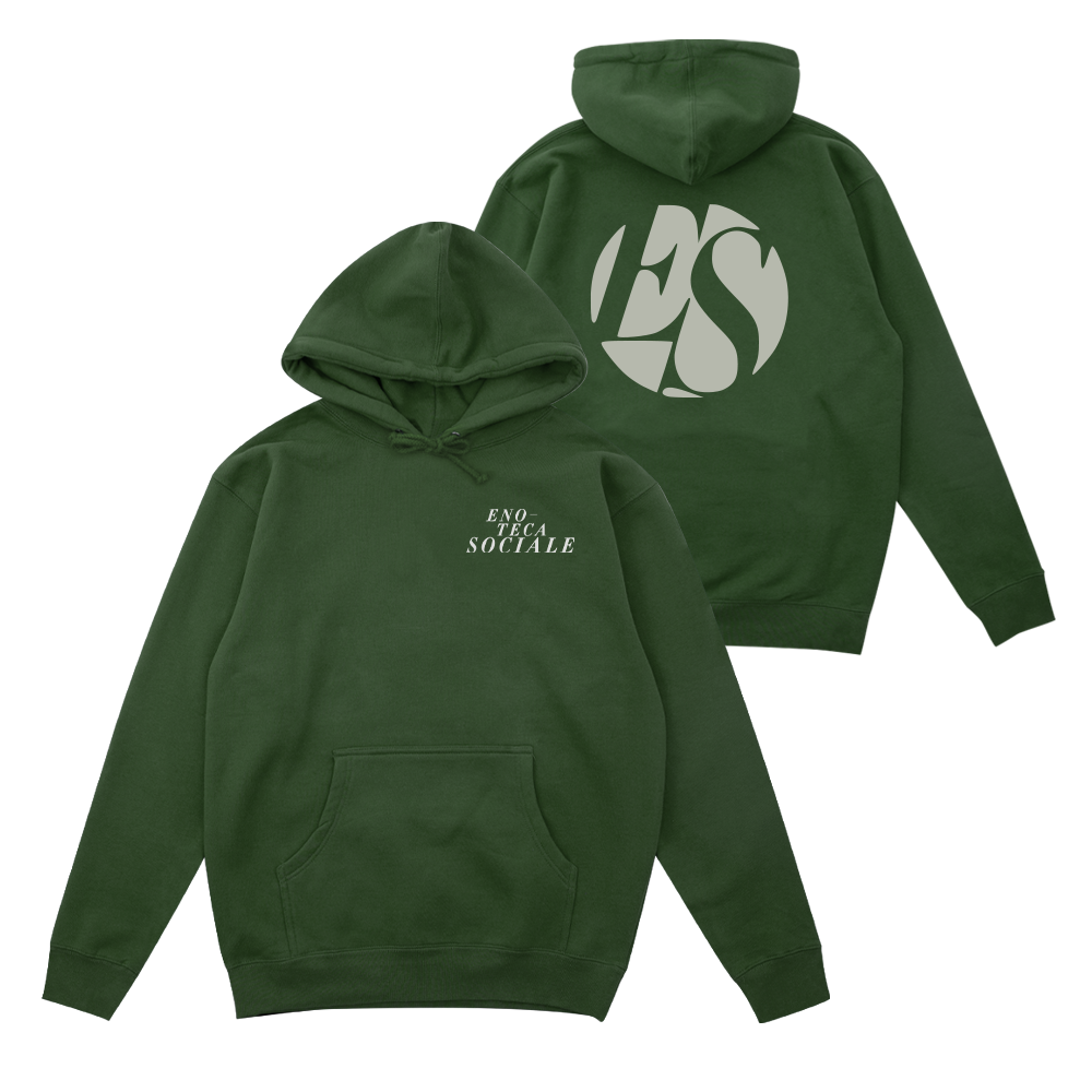 Enoteca Sociale Logo Hoodie - Dark Green - Shop Off Menu