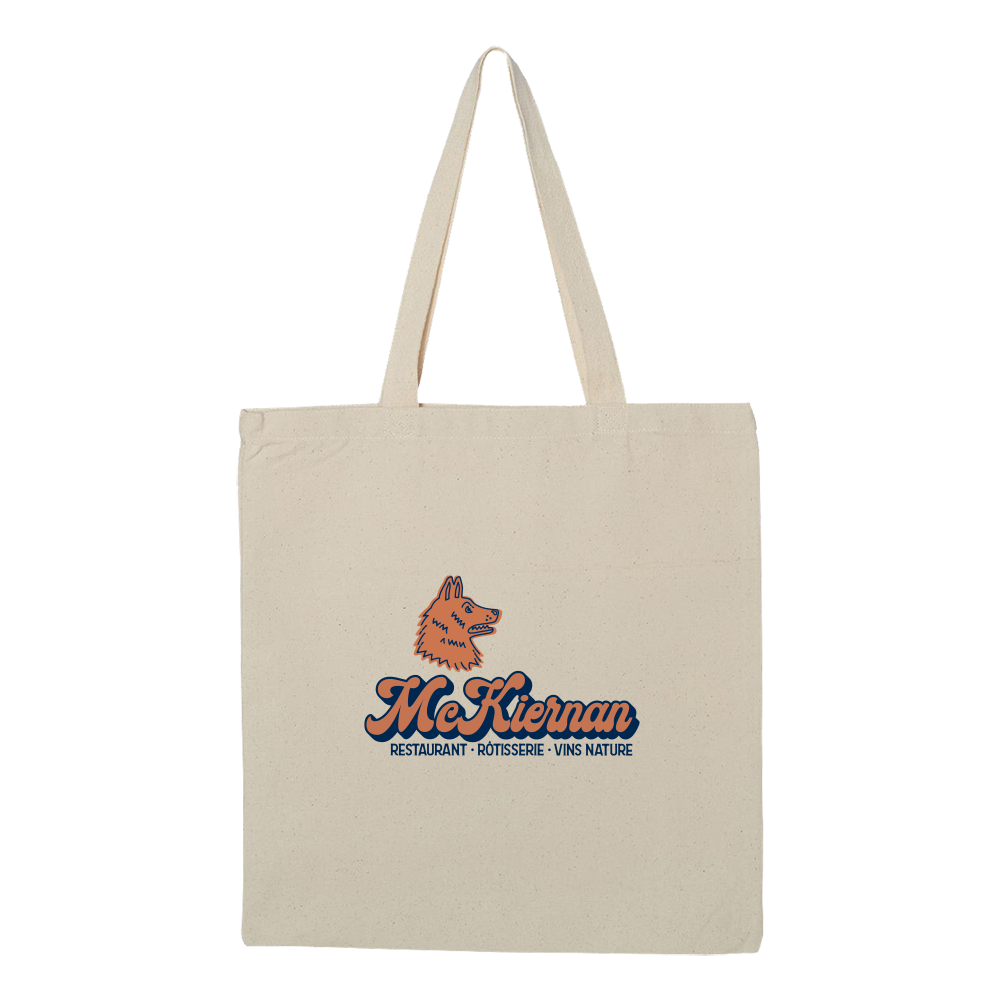 McKiernan Silhoutte Tote Bag - Natural - Shop Off Menu