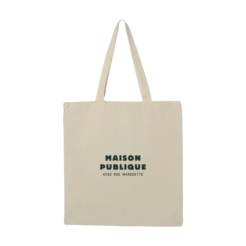Maison Publique Logo Tote Bag - Natural - Shop Off Menu
