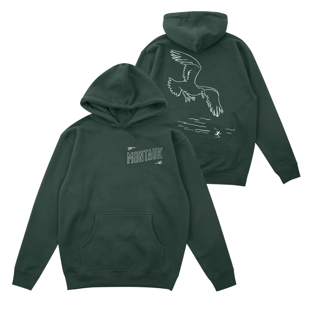 Montauk Bar Logo Hoodie - Alpine Green - Shop Off Menu