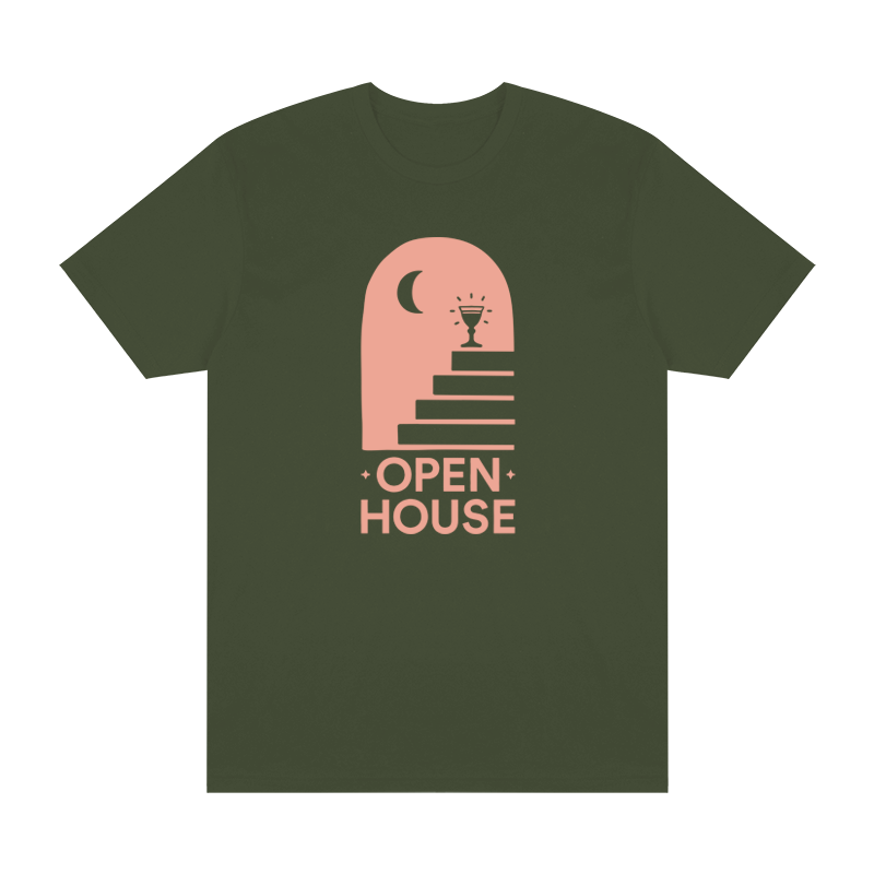 Open House Logo Tee - Military Green - Shop Off Menu