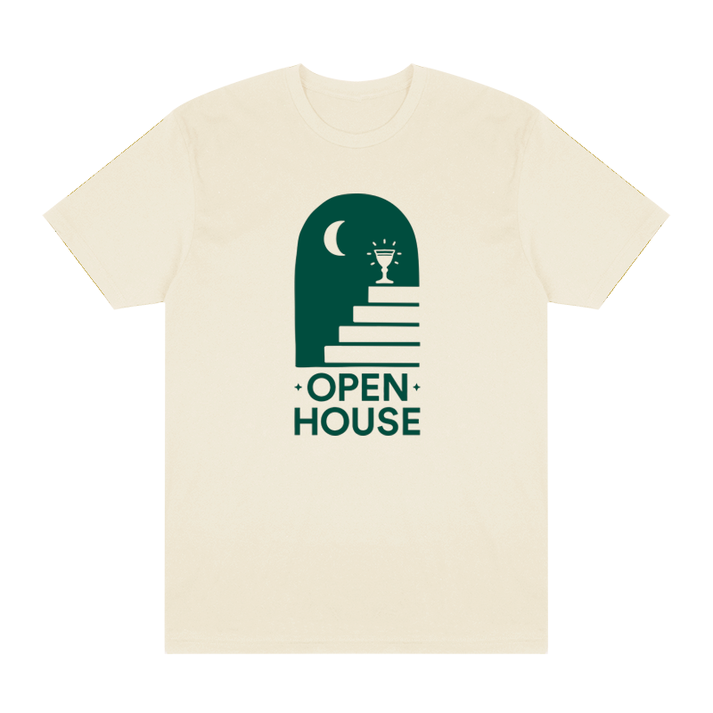 Open House Logo Tee - Natural - Shop Off Menu