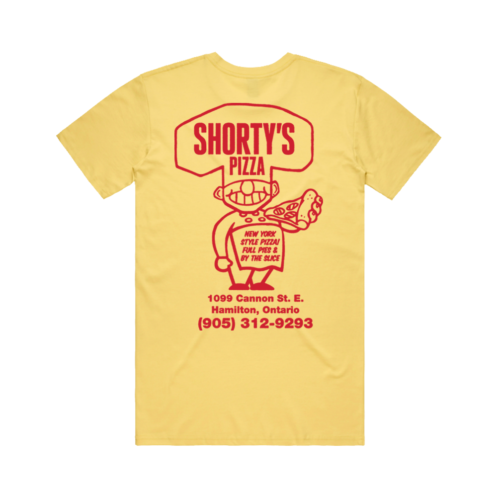 Shorty's Tee - Yellow - Shop Off Menu