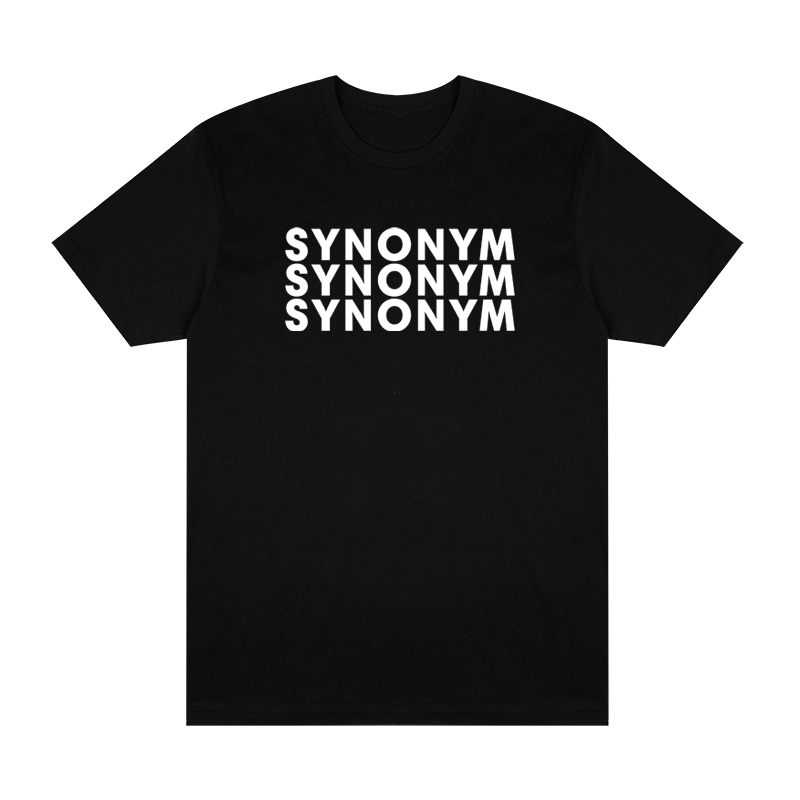 Synonym Repeat Logo Tee - Black - Shop Off Menu
