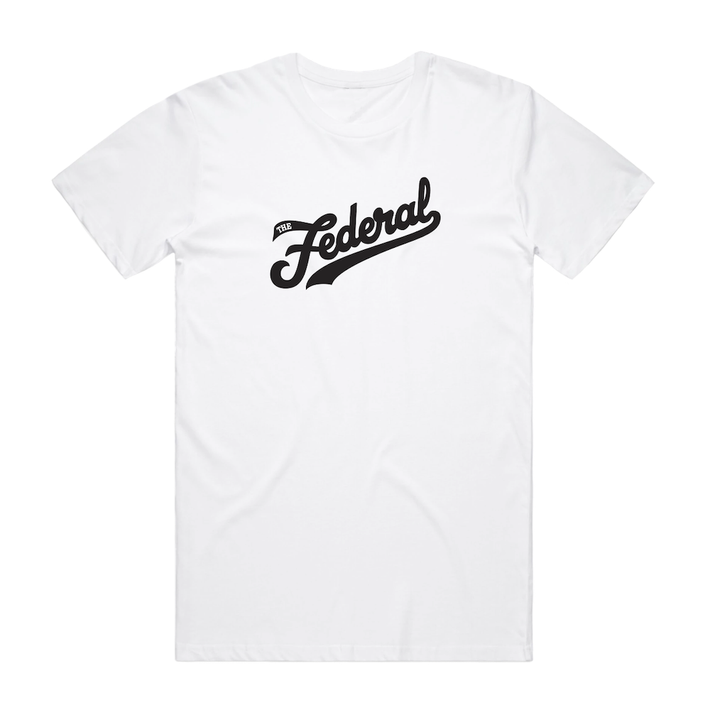 The Federal Logo Tee - White - Shop Off Menu