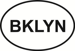 Brooklyn decal from Oval Envy.  Great price for a durable vinyl decal.  We've got animals, beaches, dogs, cats and more!  Search our catalog for your next Euro Oval Decal.