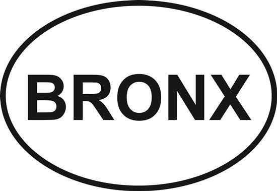 Bronx decal from Oval Envy.  Great price for a durable vinyl decal.  We've got animals, beaches, dogs, cats and more!  Search our catalog for your next Euro Oval Decal.