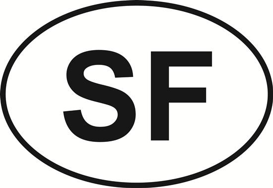 San Francisco decal from Oval Envy.  Great price for a durable vinyl decal.  We've got animals, beaches, dogs, cats and more!  Search our catalog for your next Euro Oval Decal.
