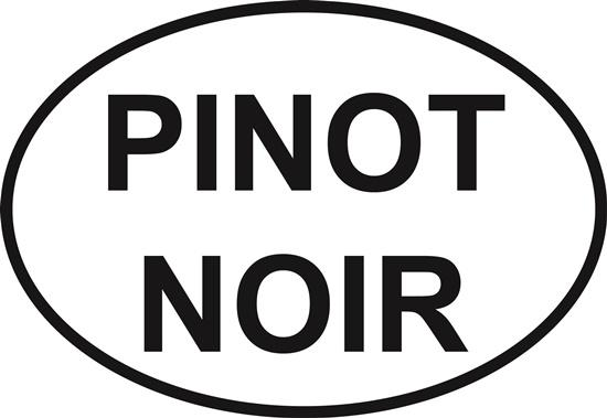 Pinot Noir decal from Oval Envy.  Great price for a durable vinyl decal.  We've got animals, beaches, dogs, cats and more!  Search our catalog for your next Euro Oval Decal.