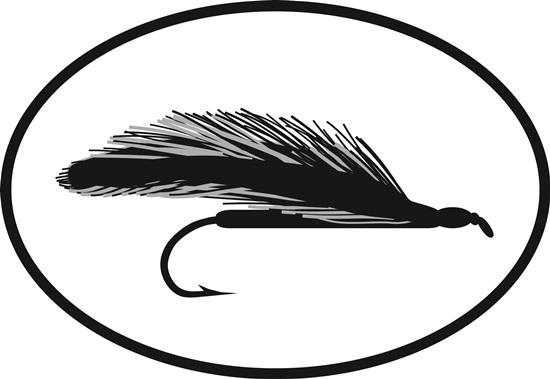 Streamer Fly decal from Oval Envy.  Great price for a durable vinyl decal.  We've got animals, beaches, dogs, cats and more!  Search our catalog for your next Euro Oval Decal.