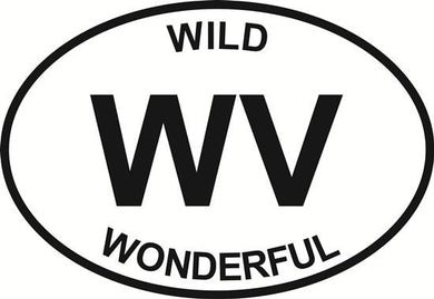 Wild & Wonderful decal from Oval Envy.  Great price for a durable vinyl decal.  We've got animals, beaches, dogs, cats and more!  Search our catalog for your next Euro Oval Decal.