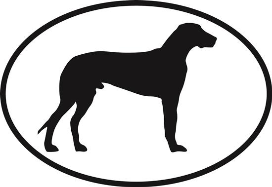 Great Dane decal from Oval Envy.  Great price for a durable vinyl decal.  We've got animals, beaches, dogs, cats and more!  Search our catalog for your next Euro Oval Decal.