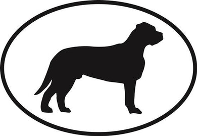 Bullmastiff decal from Oval Envy.  Great price for a durable vinyl decal.  We've got animals, beaches, dogs, cats and more!  Search our catalog for your next Euro Oval Decal.