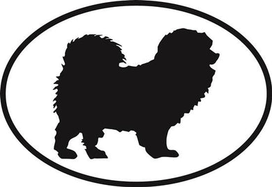 Chow Chow decal from Oval Envy.  Great price for a durable vinyl decal.  We've got animals, beaches, dogs, cats and more!  Search our catalog for your next Euro Oval Decal.
