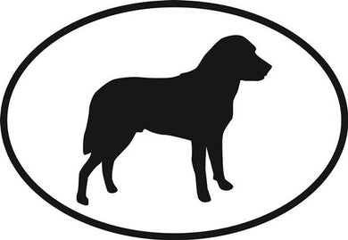 Chesapeake Bay Retriever decal from Oval Envy.  Great price for a durable vinyl decal.  We've got animals, beaches, dogs, cats and more!  Search our catalog for your next Euro Oval Decal.
