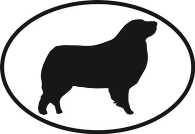 Australian Shepherd decal from Oval Envy.  Great price for a durable vinyl decal.  We've got animals, beaches, dogs, cats and more!  Search our catalog for your next Euro Oval Decal.