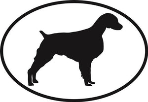 Brittany Spaniel decal from Oval Envy.  Great price for a durable vinyl decal.  We've got animals, beaches, dogs, cats and more!  Search our catalog for your next Euro Oval Decal.