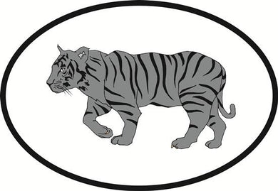 Tiger decal from Oval Envy.  Great price for a durable vinyl decal.  We've got animals, beaches, dogs, cats and more!  Search our catalog for your next Euro Oval Decal.
