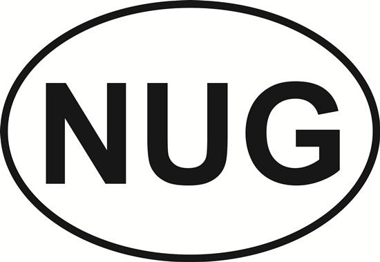 Nugget (NUG) decal from Oval Envy.  Great price for a durable vinyl decal.  We've got animals, beaches, dogs, cats and more!  Search our catalog for your next Euro Oval Decal.
