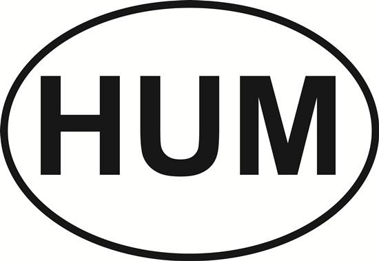 Humarock (HUM) decal from Oval Envy.  Great price for a durable vinyl decal.  We've got animals, beaches, dogs, cats and more!  Search our catalog for your next Euro Oval Decal.