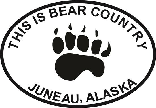 Juneau Bear Paw decal from Oval Envy.  Great price for a durable vinyl decal.  We've got animals, beaches, dogs, cats and more!  Search our catalog for your next Euro Oval Decal.