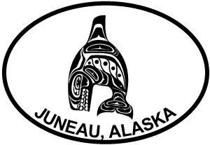 Juneau Totem Fish G decal from Oval Envy.  Great price for a durable vinyl decal.  We've got animals, beaches, dogs, cats and more!  Search our catalog for your next Euro Oval Decal.
