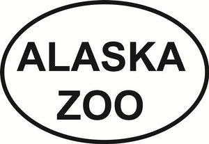 Alaska Zoo decal from Oval Envy.  Great price for a durable vinyl decal.  We've got animals, beaches, dogs, cats and more!  Search our catalog for your next Euro Oval Decal.