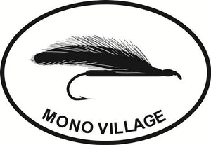 Mono Fly decal from Oval Envy.  Great price for a durable vinyl decal.  We've got animals, beaches, dogs, cats and more!  Search our catalog for your next Euro Oval Decal.