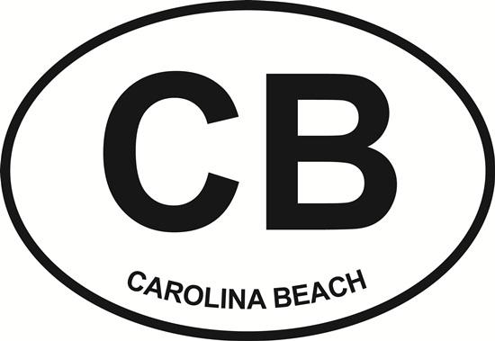 Carolina Beach decal from Oval Envy.  Great price for a durable vinyl decal.  We've got animals, beaches, dogs, cats and more!  Search our catalog for your next Euro Oval Decal.