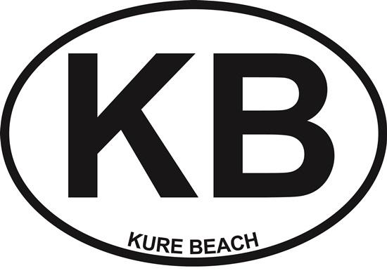 Kure Beach (KB) decal from Oval Envy.  Great price for a durable vinyl decal.  We've got animals, beaches, dogs, cats and more!  Search our catalog for your next Euro Oval Decal.